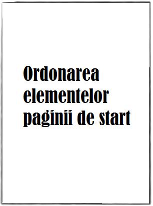 optimizare site ordonarea elementelor paginii de start